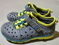 Surprize by Stride Rite Toddler Boy's Land & Water Shoes Gray & Green Size 10