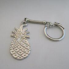 SIlver pineapple Keychain with large pineapple made in USA