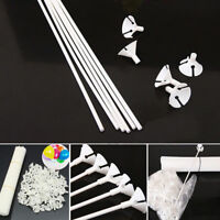 100-500x White Balloon Sticks Holders with Cups for Wedding Party Decor