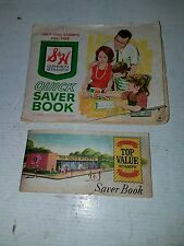VTG S & H GREEN STAMPS QUICK SAVER BOOK & TOP VALUE QUICK SAVER BOOK USED