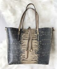 Neues AngebotBraun beige Double Handle große Schulter Shopper Tasche Kunstleder
