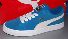 PUMA SUEDE JR IN COLORS BLUE / WHITE SIZE 5