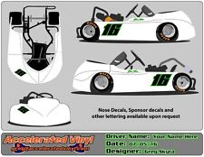Go Kart 2 Color Vinyl Decal Number Set! 1 Specialty Color Included