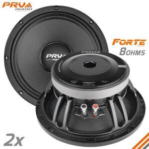 "2x PRV 10MB800FT Midbass Speakers FORTE Car PRO Audio 10"" 8 Ohms 800 Watts PAIR"