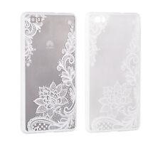 "^ móvil Lace funda protectora case cover flor blanca Apple iPhone 7 4,7"""