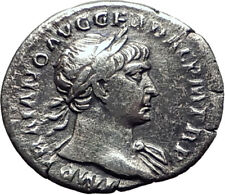 Trajan  103AD Rome Authentic Genuine Silver Ancient Roman Coin SPES Hope  i64473