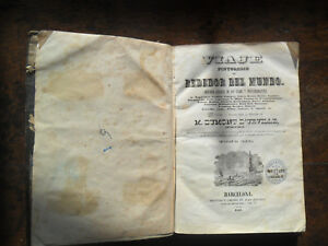 REDEDOR del MUNDO 1841 leather bound original 1st Ed Vol III NZ Pacific Prints