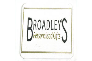 Personalised Fabric topped rubber Coaster for all occasions
