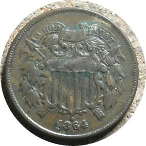 elf Two Cents   1864 Large Motto    Civil War  Szego Collection  419