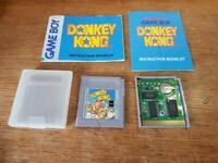 Donkey Kong Original Gameboy Gam with Instructions VGC RARE tested working