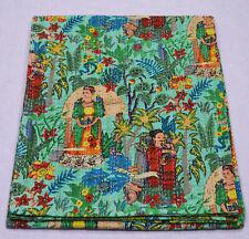 Kantha Quilt Indian Cotton Ethnic Bedspread Bedding Blanket Coverlet Frida Kahlo