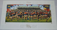 FITZROY LIONS TEAM OF THE CENTURY JAMIE COOPER PRINT ROOS QUINLAN LYNCH WILSON