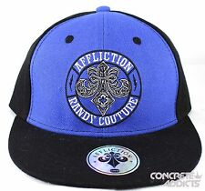 Affliction Randy Couture Black Kids Boys Snapback Flatbill Baseball Hat Cap