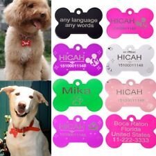 DIY Pet Dog Cat Tag Identification Phone Bone Shape Charm Pet Tags