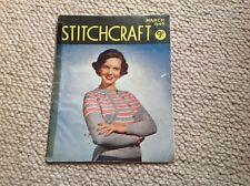 STITCHCRAFT Ladies Vintage Knitting Magazine March1949