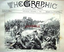 """Antique Engraved Print 1886 - """"Austrian Imperial Army Manoeuvres in Galicia"""""""