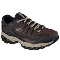 Skechers Men's After Burn Memory Fit Low Top Sneaker Shoes Taupe Brown Lifest...