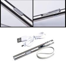 Mini Bolsillo Táctico Bolígrafo Linterna Lápiz LED Recargable USB Ligero Luz