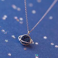 Pendant Jewellery Gift 925 Silver Chain Star Fashion Blue Diamond Women Necklace