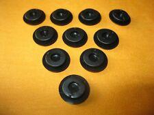 BLACK RUBBER BLANKING GROMMETS 8mm HOLE DIAMETER x10