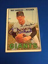 1967 Topps 409 Ray Sadecki Giants Autographed Auto Signed Card