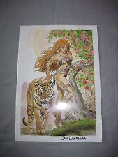 "1988 Signed Set Of 6 art by Jan Duursema ""Spirit Guides"" 100/1500 comics B/W"
