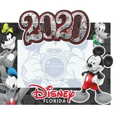 Disney Dated 2020 Comic Mickey Goofy Donald Pluto 4x6 Picture Frame