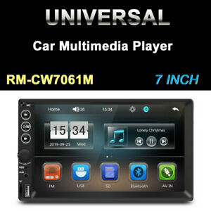 7in Touch Screen 2DIN Car FM Stereo Radio Vehicle MP5 Player BT Audio USB/TF/AUX
