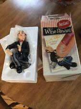 New listing Wine Steward By Table Craft Bottle Holder Waiter Figurine Restaurant Top Nib New