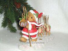 Cherished Teddies Santa Series 2011 Carl Nib Signed