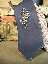 Steampunk Neck Tie Handmade In Italy Necktie Double Face Sided Gift Man Brocade