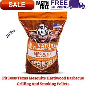 100% All Natural Wood Texas Mesquite Hardwood BBQ Grilling,Smoking Pellets 20Lbs