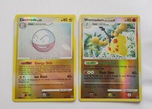 Electrode & Wormadam DP holo Rare Pokemon Cards TCG