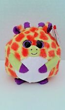 Ty Beanie Ballz Toby Giraffe Orange Yellow Bean Bag Stuffed Plush Animal 38129