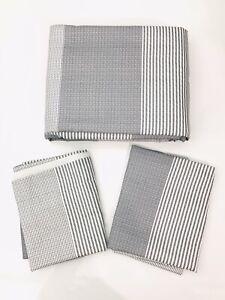 "Truly Soft Everyday Stripe Full/Queen Duvet Mini Set 90"" x 90"" Grey"