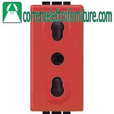 BTICINO LIVINGLIGHT presa bipasso 2P+T 10/16A rossa L4180R