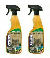 Defenders STV Cat Repellent Deterrent Repeller Spray 1 Litre Bottles x2