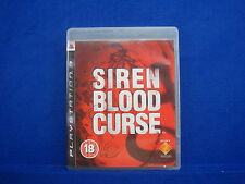 ps3 SIREN BLOOD CURSE English Language Survival Horror Playstation 3