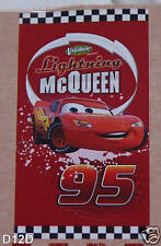 Disney Pixar Cars McQueen Red Printed Velour Beach Towel 75cm x 150cm New