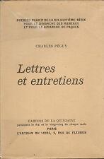 CHARLES PEGUY LIVRE NUMEROTE LETTRES & ENTRETIENS CAHIERS DE LA QUINZAINE 1927