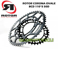 Rotor Chainring Race Oval BCD110 5 50D Black RR008