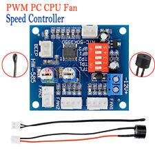 2PCS DC 12V PWM PC CPU Fan Temperature Control Speed Controller High-Temp Alarm