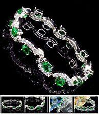 Necklace Dazzling Silver 925 Stone Topaz London E TOPAZIO Green