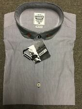 Lambretta Stripe Short Sleeve Shirt/blue - 3xl Was (lms7771)