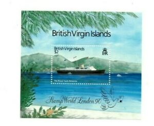 SPECIAL LOT British Virgin Islands 1990 657 - Stamp World London - 25 S/S - MNH