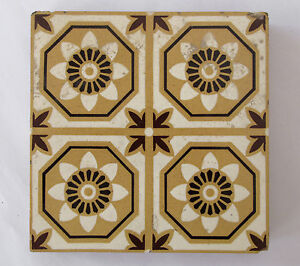 "Antique three-colour Encaustic Floor tiles 6 x 6"" – Stoke on Trent - 2 of 2"