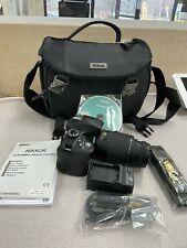 Nikon D3300 DSLR 24.2 MP HD 1080p Camera With Nikon  55-200mm 1:4-5.6 Lens Black