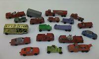Lot 19 Vintage Tootsie Toy Mini Cars Trucks Mobil Gas Hauler ++