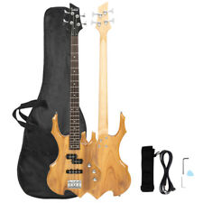 """34"""" Burlywood Professional 4 Strings Electric Bass Guitar with Bag Strap Tools"""