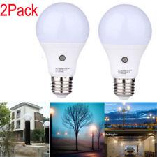 2Pcs LED Sensor Bulb E27 7W Dusk To Dawn Light Sensor Lamp Indoor Outdoor